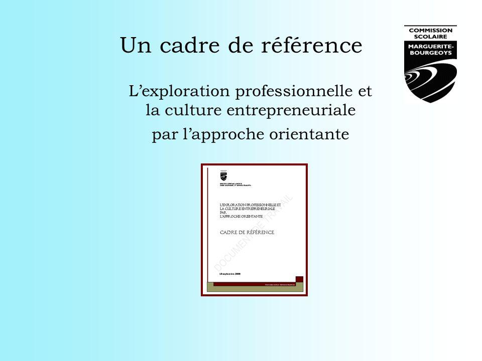 Un cadre de référence Lexploration professionnelle et la culture entrepreneuriale par lapproche orientante