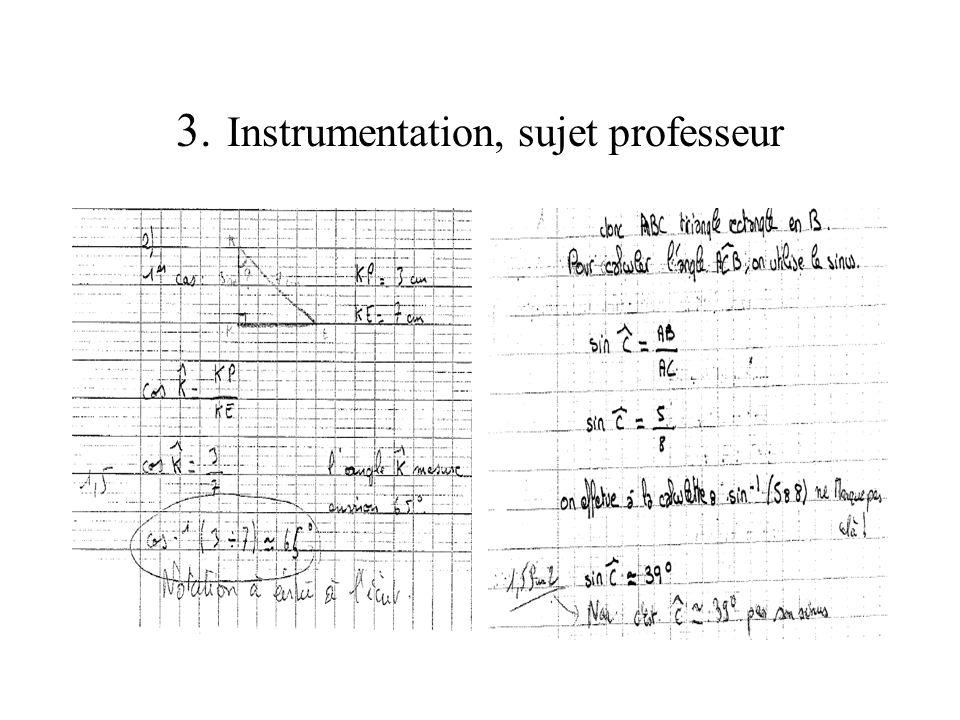 3. Instrumentation, sujet professeur