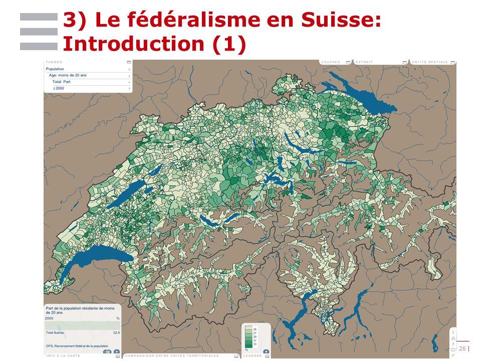 | ©IDHEAP – Andreas.Ladner@idheap.unil.ch | | 18/05/2014 | | Diapositive 26 | 3) Le fédéralisme en Suisse: Introduction (1)