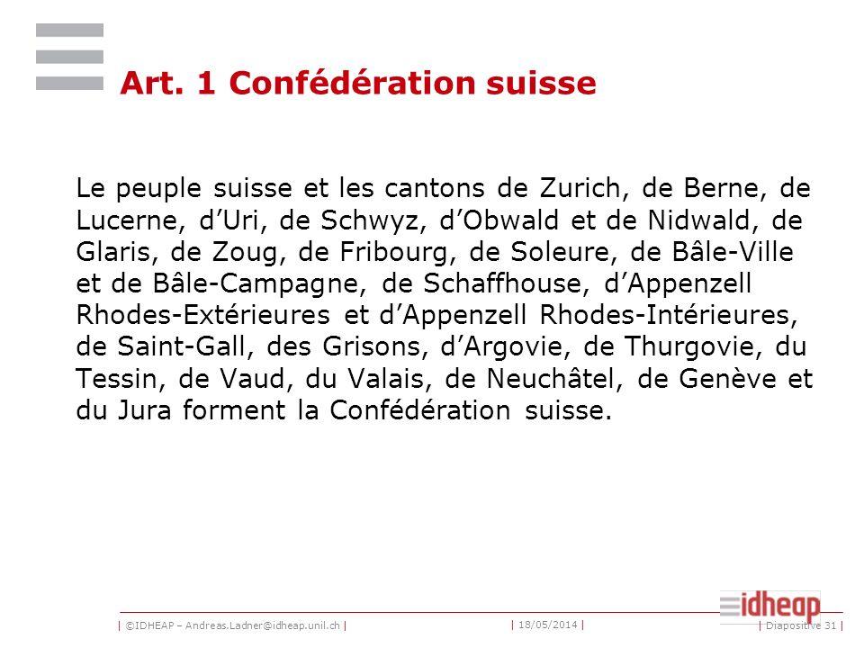 | ©IDHEAP – Andreas.Ladner@idheap.unil.ch | | 18/05/2014 | | Diapositive 31 | Art.