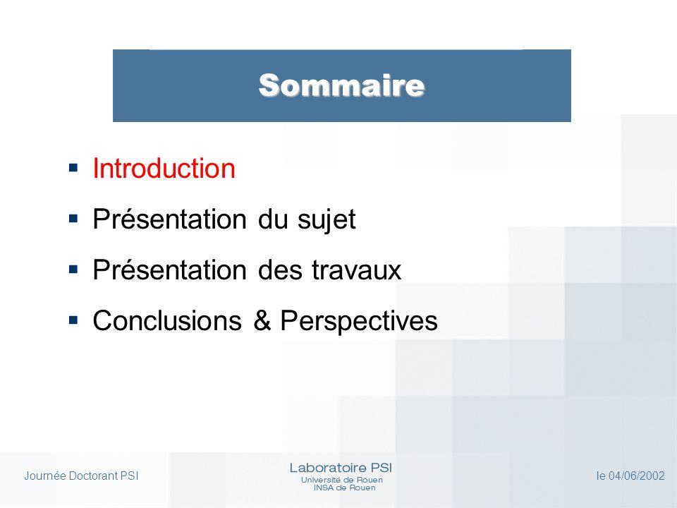 Journée Doctorant PSI le 04/06/2002 Présentation des travaux T1 : Reconnaissance statistico-structurelle de symboles (3) Perspectives (court terme)