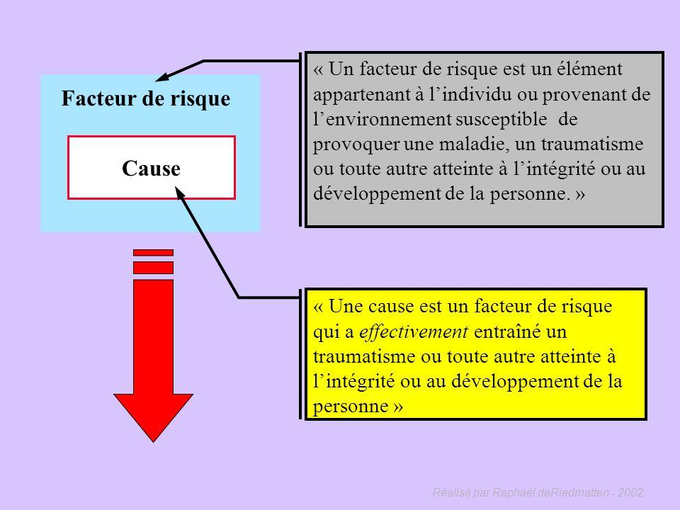 Réalisé par Raphaël deRiedmatten - 2002 Facteur de risque Cause 138 KS 986