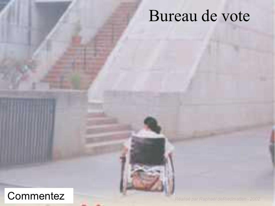 Réalisé par Raphaël deRiedmatten - 2002 APPROCHE PAR LES DROITS DE LHOMME Le handicap est dû à un problème dorganisation sociale et de rapport entre l