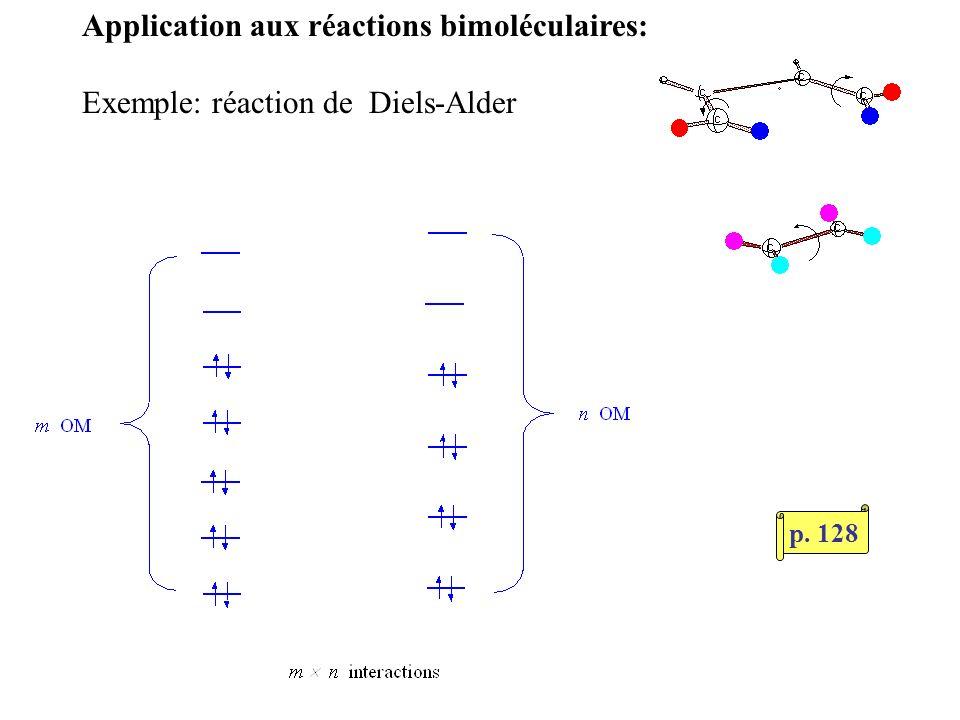 Application aux réactions bimoléculaires: Exemple: réaction de Diels-Alder p. 128