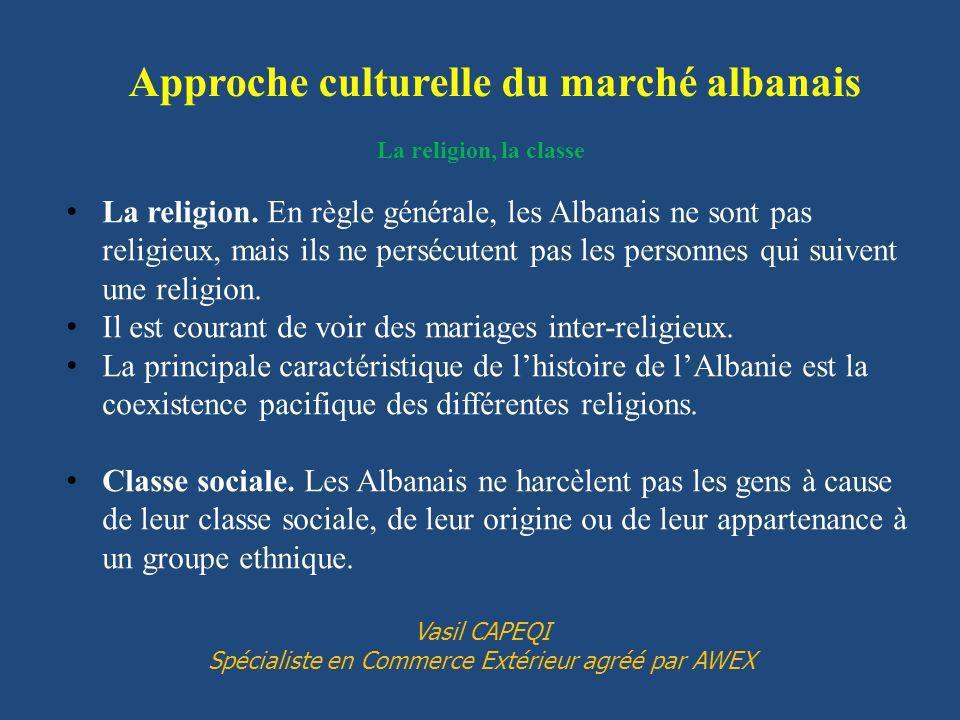La religion, la classe La religion. En règle générale, les Albanais ne sont pas religieux, mais ils ne persécutent pas les personnes qui suivent une r