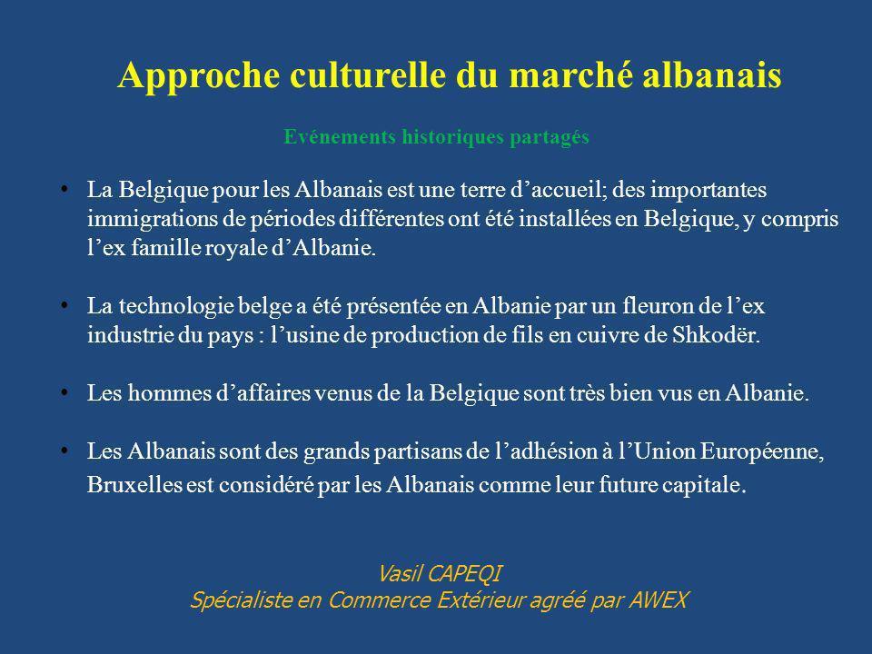 Evénements historiques partagés La Belgique pour les Albanais est une terre daccueil; des importantes immigrations de périodes différentes ont été installées en Belgique, y compris lex famille royale dAlbanie.