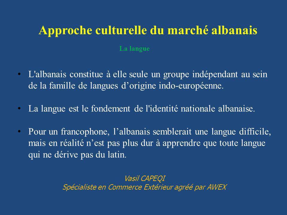 La langue L'albanais constitue à elle seule un groupe indépendant au sein de la famille de langues dorigine indo-européenne. La langue est le fondemen