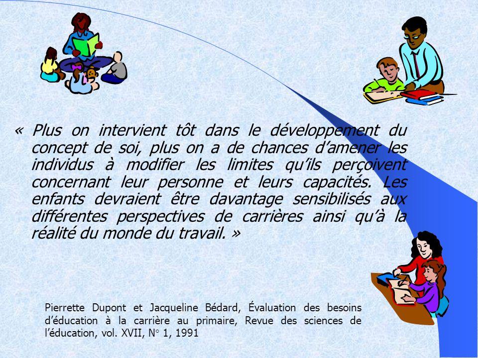 Historique Rapport Parent, 1963 à 1966; Avis du conseil supérieur de léducation, 1988; Plan daction sur la réussite éducative, 1992; Recommandation de lordre professionnel des conseillers et des conseillères dorientation du Québec, 1993; Rapport Pagé, 1995; Rapport sur la relance de la formation professionnelle, 1995; Rapport sur les états généraux de léducation, 1996; Réaffirmer lécole (rapport Inchauspé), 1997; Lécole, tout un programme (Énoncé de politique éducative), 1997; Sommet du Québec et de la jeunesse, 2000; Programme de formation de lécole québécoise, 2001; À chacun son rêve: balises pour linstauration dune approche orientante à lécole, 2001.