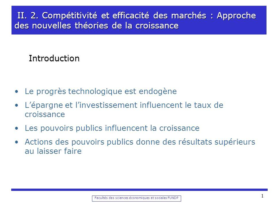Facultés des sciences économiques et sociales FUNDP 1 II.
