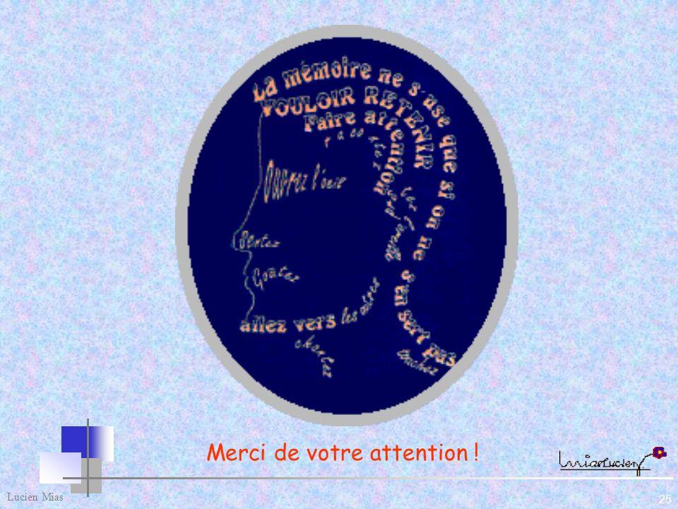 Lucien Mias 25 Merci de votre attention !