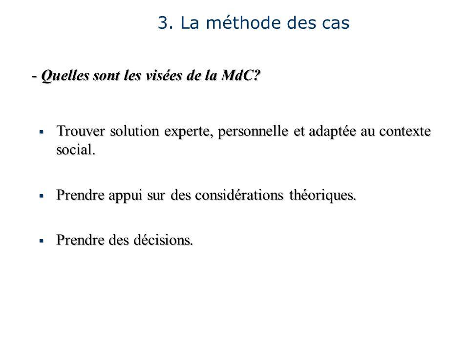 - Quelles sont les visées de la MdC? Trouver solution experte, personnelle et adaptée au contexte social. Trouver solution experte, personnelle et ada