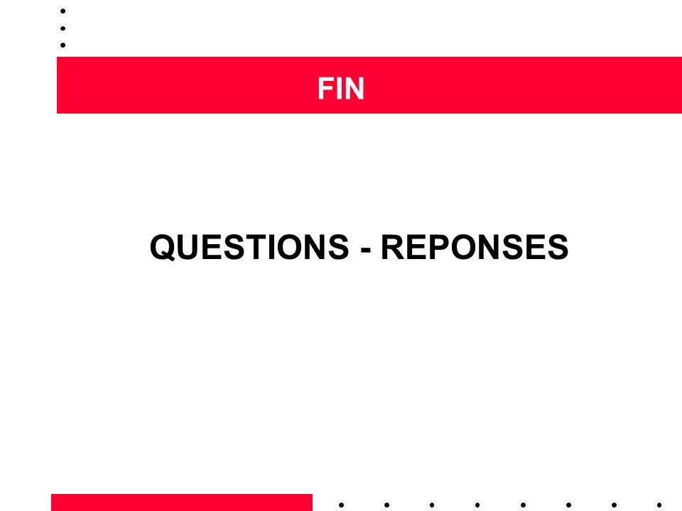FIN QUESTIONS - REPONSES