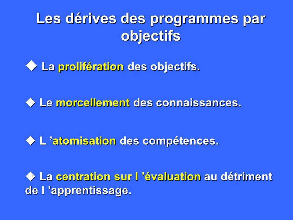 Les dérives des programmes par objectifs u La prolifération des objectifs.