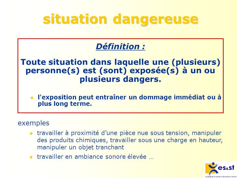 mesure de prévention Définition : Action destinée à rendre une situation de travail sûre.