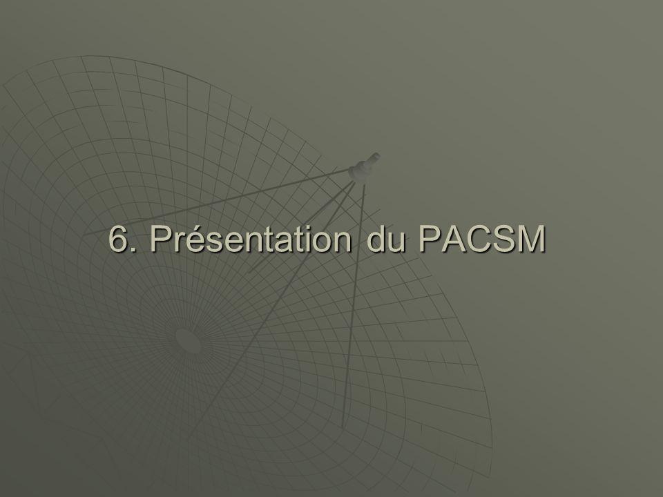 6. Présentation du PACSM
