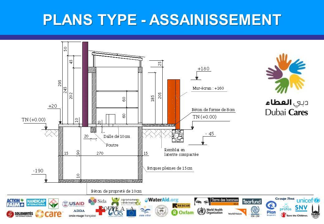Groupe Pivot ADDA Introduction PLANS TYPE - ASSAINISSEMENT
