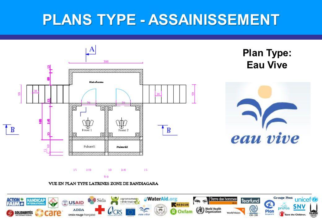 Groupe Pivot ADDA Introduction PLANS TYPE - ASSAINISSEMENT Plan Type: Eau Vive