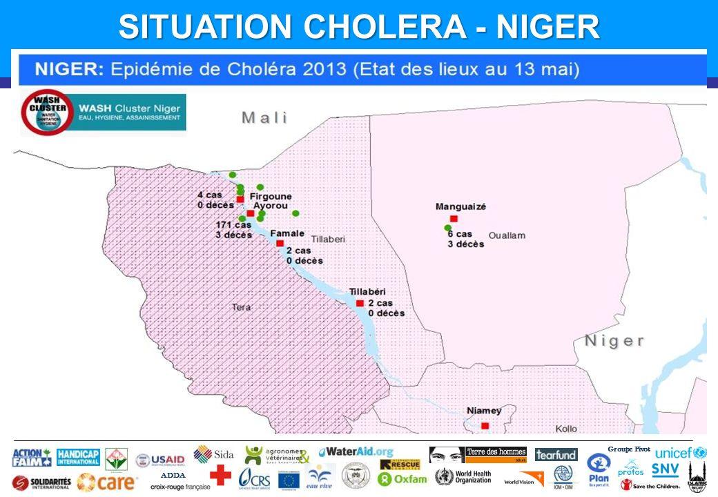 Groupe Pivot ADDA SITUATION CHOLERA - NIGER