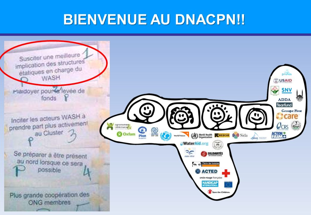 Groupe Pivot ADDA PLANS TYPE - ASSAINISSEMENT Plan Type: DNACPN