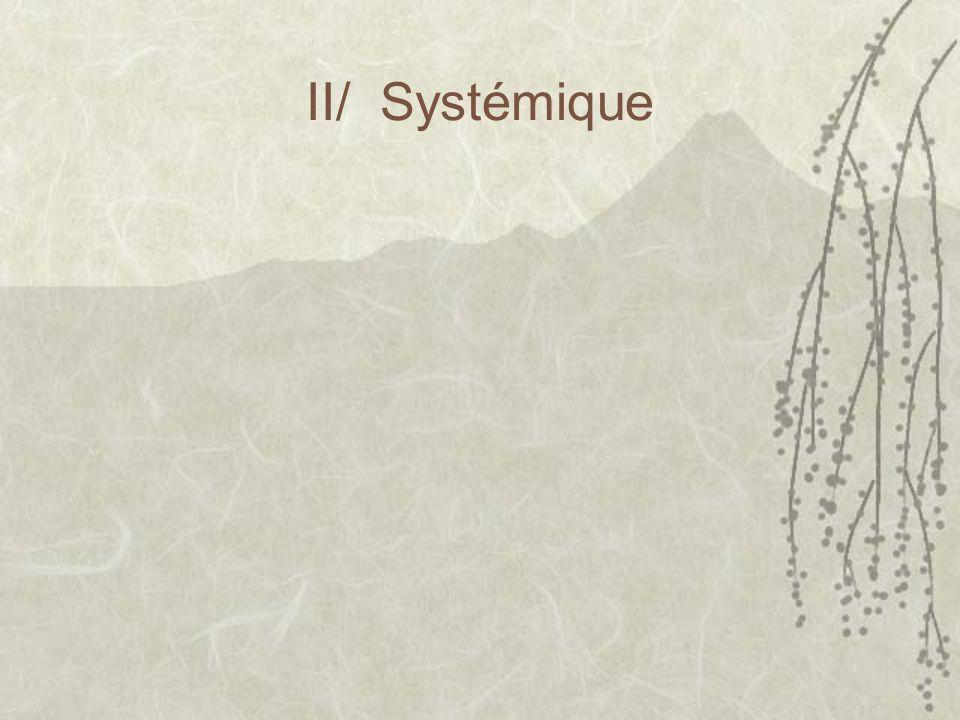 II/ Systémique