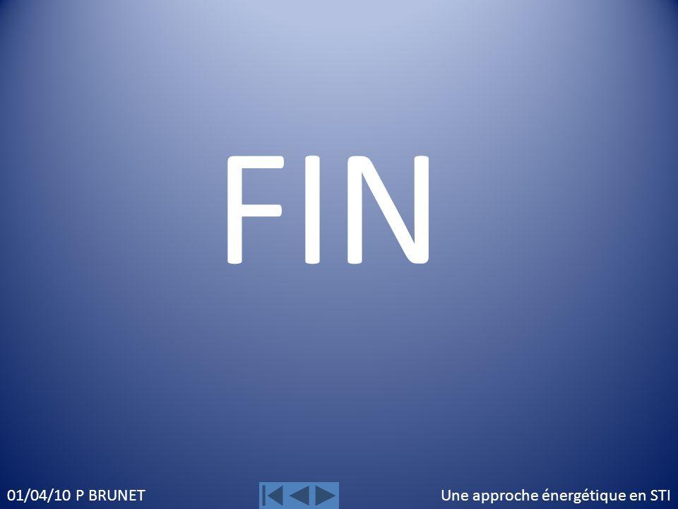 Une approche énergétique en STI01/04/10 P BRUNET FIN