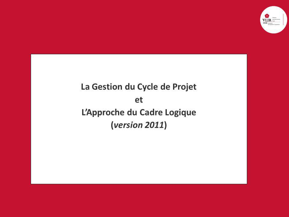 university cooperation for development sharing minds, changing lives 12 Approche cadre logique: 2.