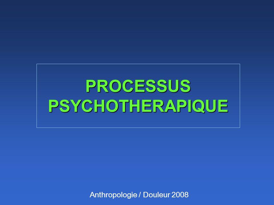 Anthropologie / Douleur 2008 PROCESSUS PSYCHOTHERAPIQUE