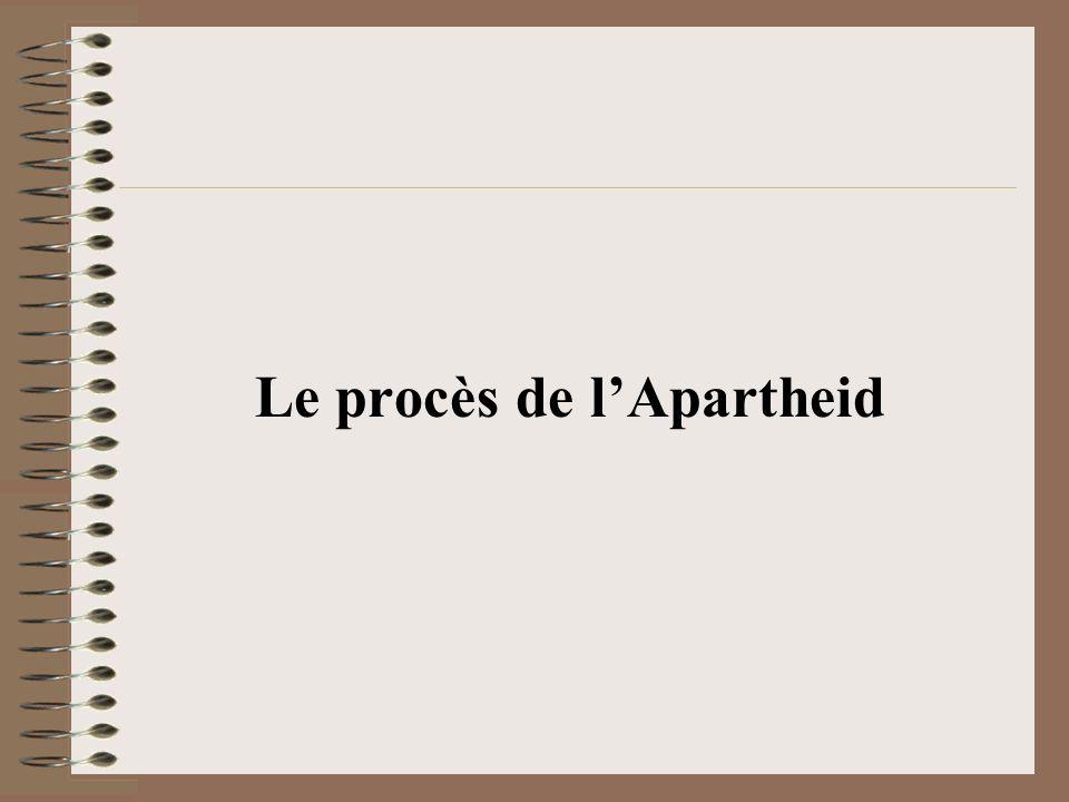 Le procès de lApartheid
