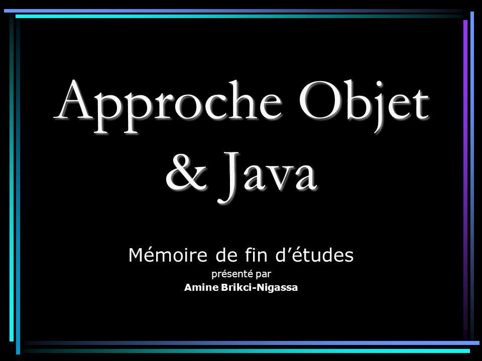 Approche Objet & Java Mémoire de fin détudes présenté par Amine Brikci-Nigassa