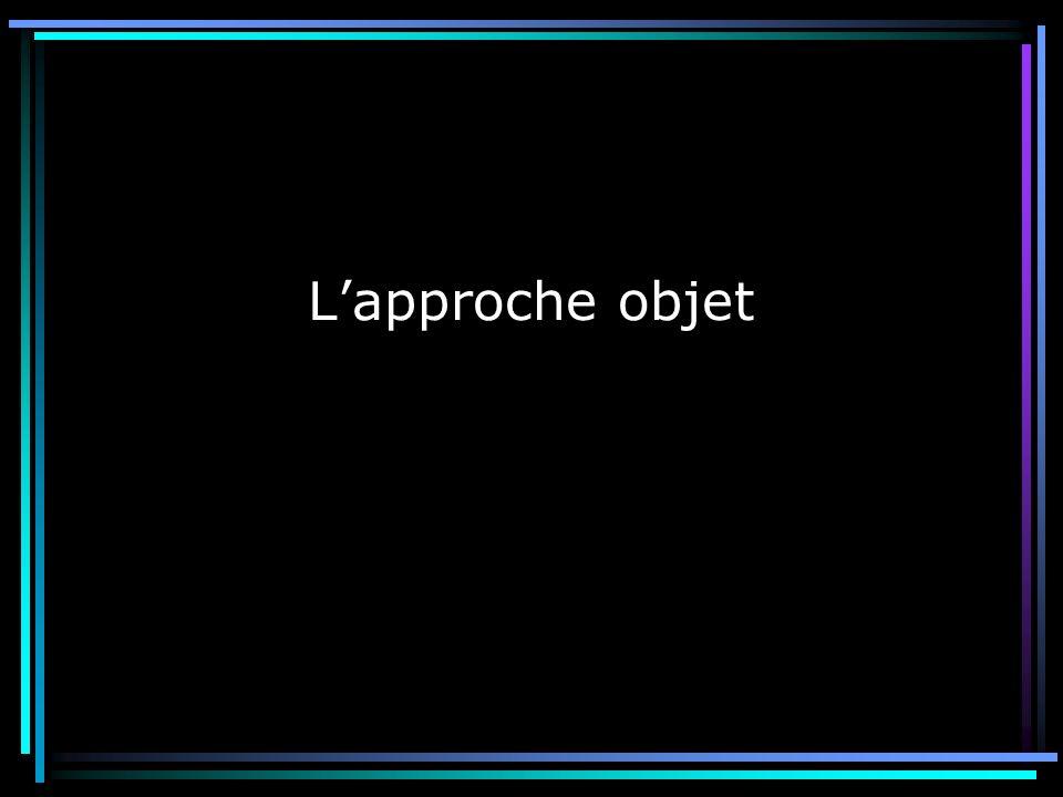Amine Brikci-Nigassa 19/11/2001Approche objet & Java « Tout est objet » Approche fonctionnelle « Que veut-on faire .