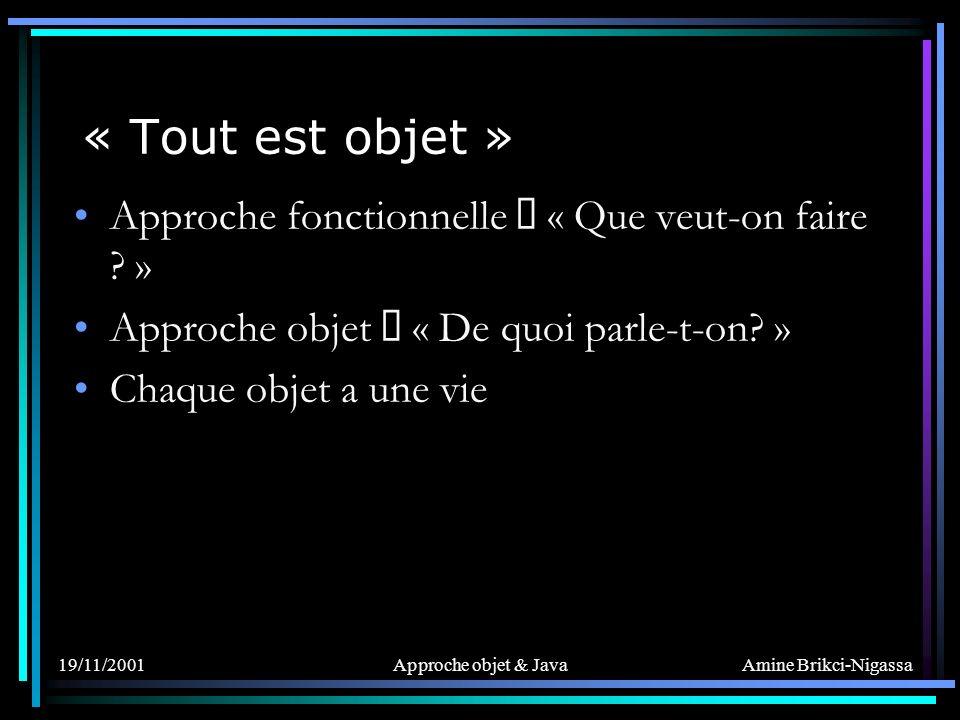 Amine Brikci-Nigassa Les objets : Instanciation Lopérateur new crée un objet et appelle son constructeur.