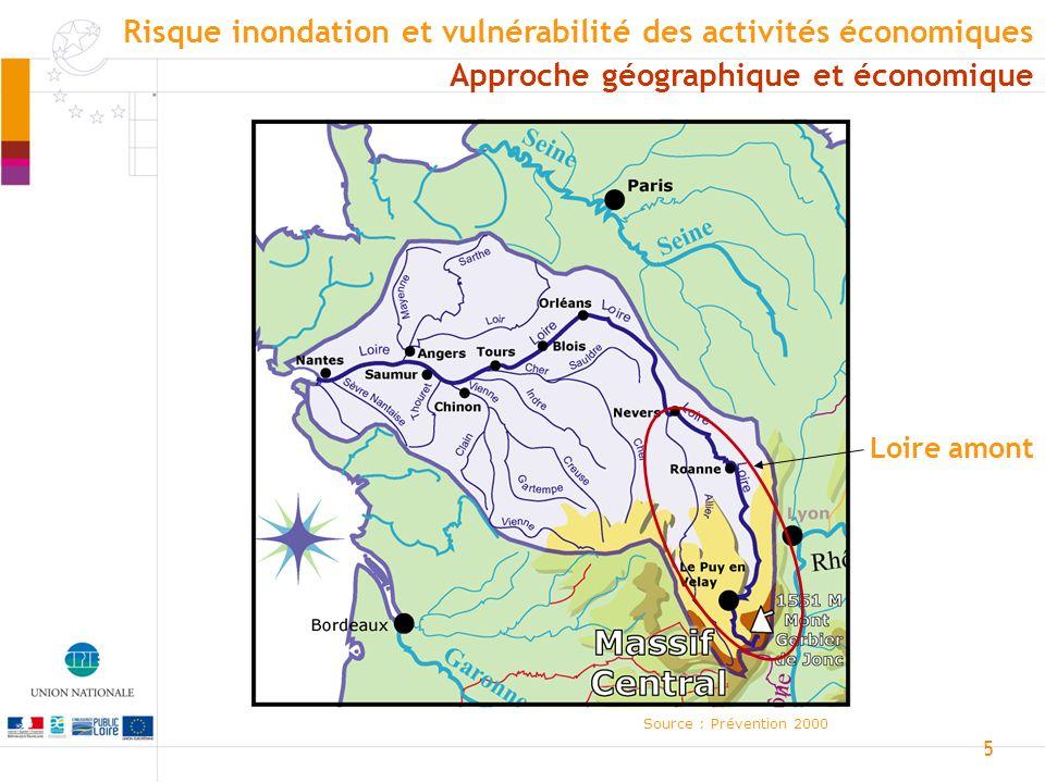 6 Source : Prévention 2000 Rivière Torrents Très en amont, avec la pente, le cours deau arrache des matériaux Approche géographique et économique Risque inondation et vulnérabilité des activités économiques