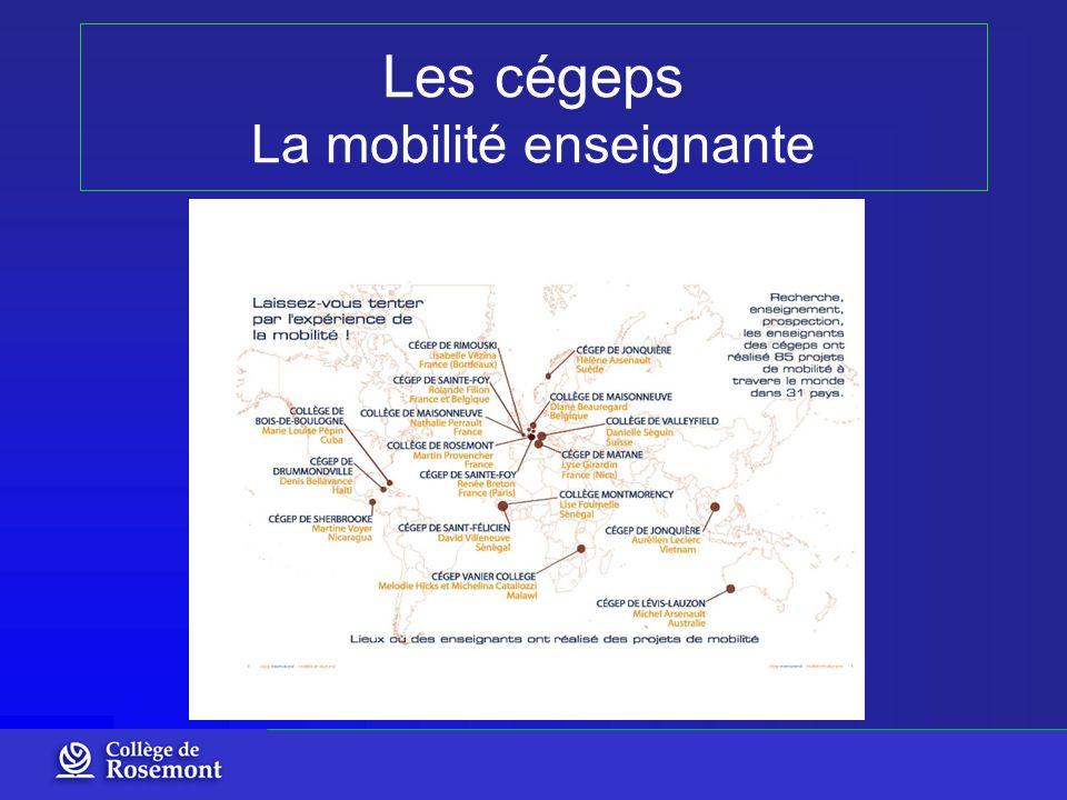 Les cégeps La mobilité enseignante