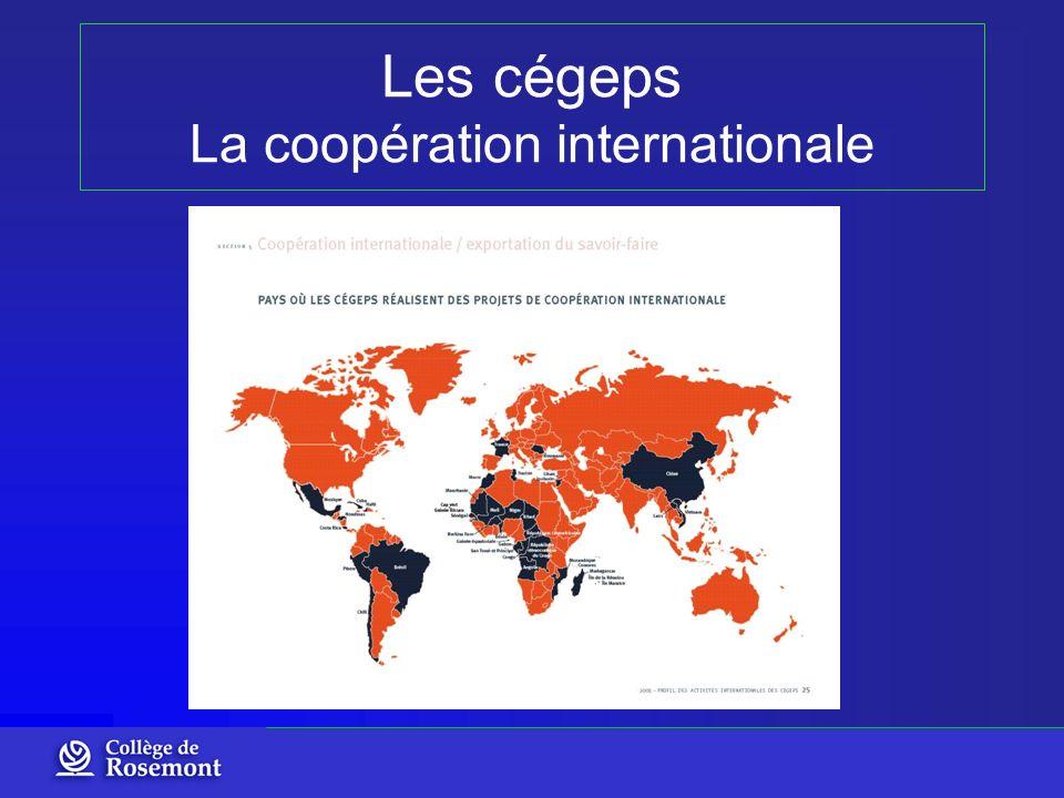 Les cégeps La coopération internationale