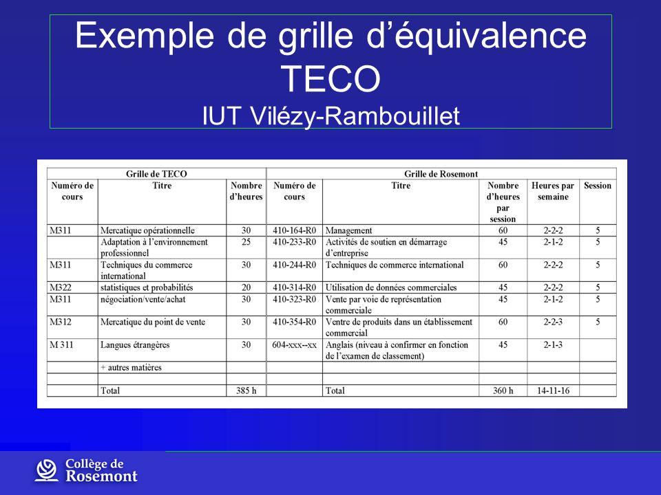 Exemple de grille déquivalence TECO IUT Vilézy-Rambouillet