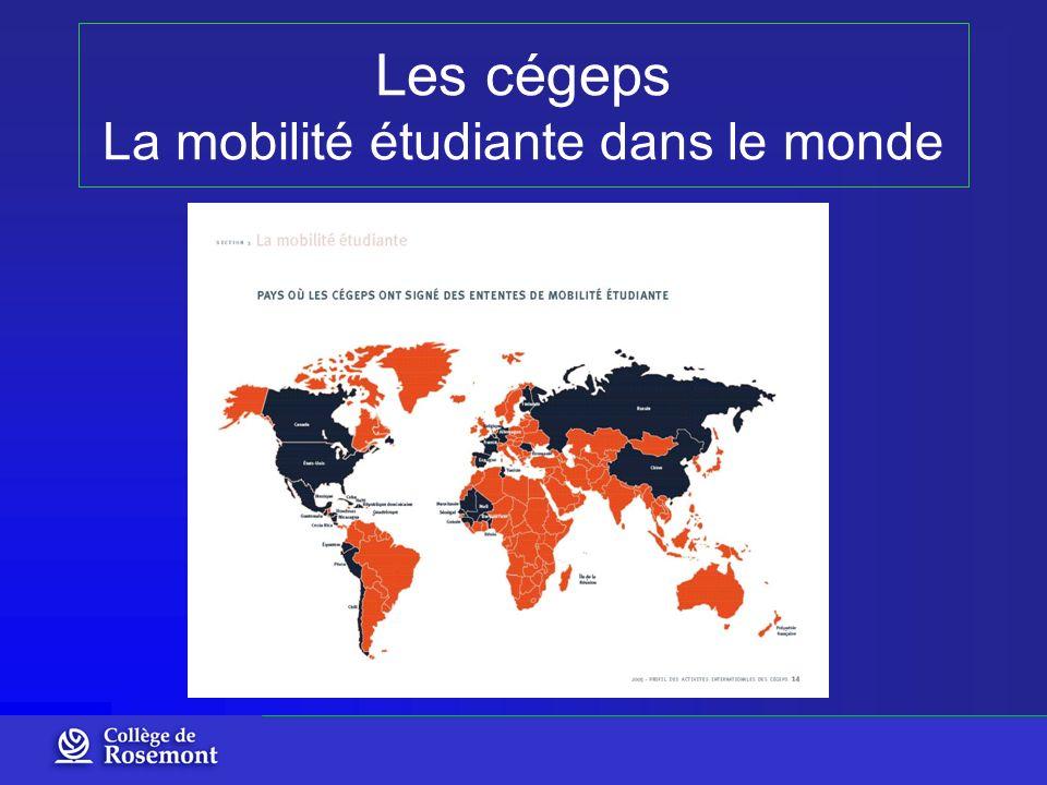Les cégeps La mobilité étudiante dans le monde