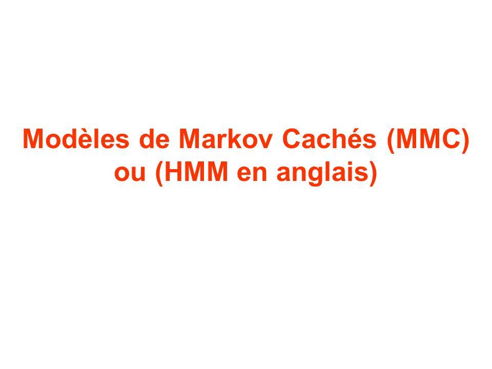 Modèles de Markov Cachés (MMC) ou (HMM en anglais)