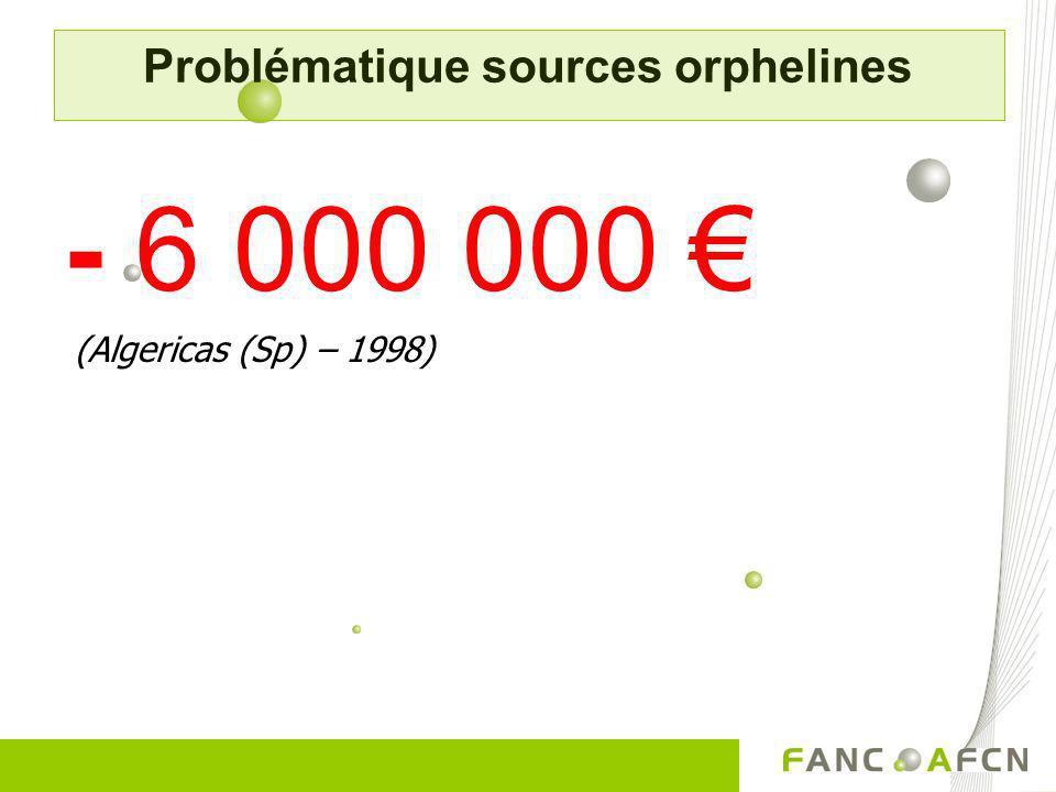 - 6 000 000 (Algericas (Sp) – 1998) Problématique sources orphelines