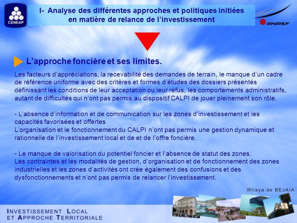 Les facteurs dappréciations, la recevabilité des demandes de terrain, le manque dun cadre de référence uniforme avec des critères et formes détudes de