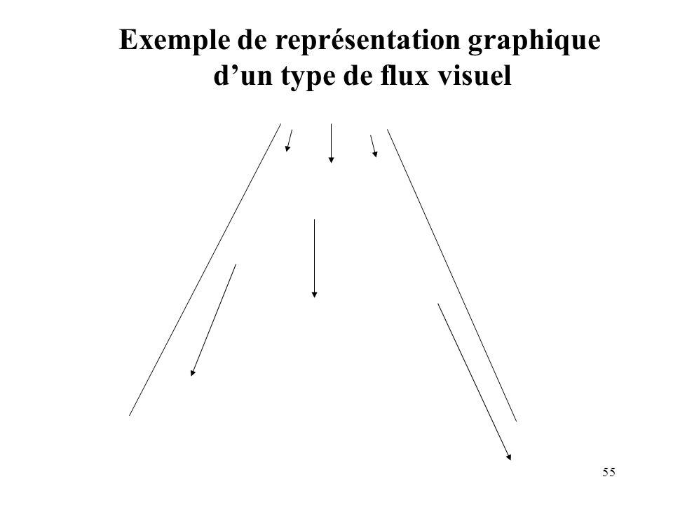 55 Exemple de représentation graphique dun type de flux visuel