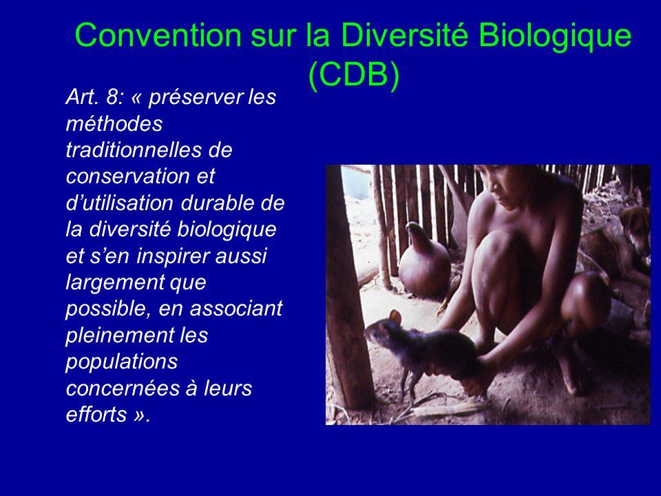 Convention sur la Diversité Biologique (CDB) Art.