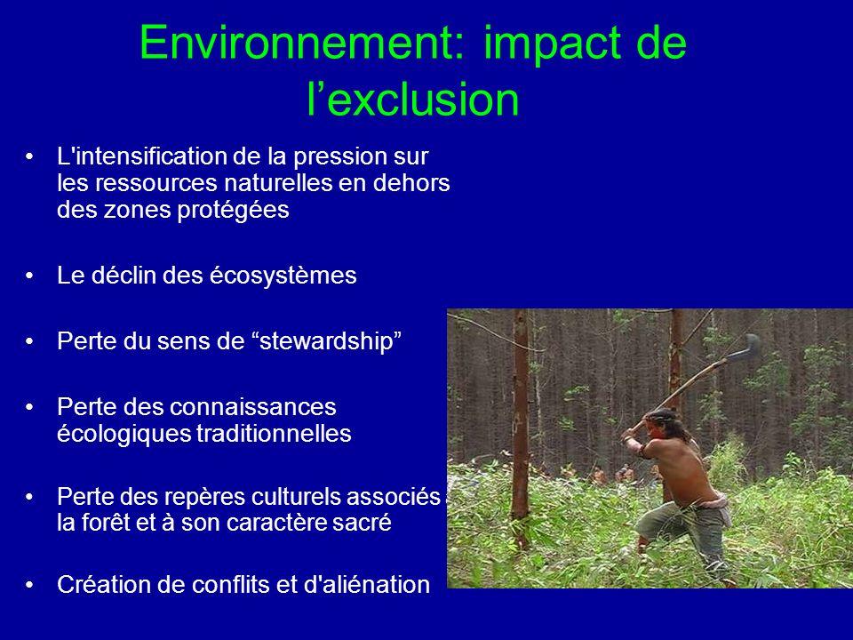 manque de capacité de traiter les causes sous-jacentes de la perte de biodiversité, ainsi que manque de viabilité financière et technique de ces initiatives (McShane et Newby 2004) ..