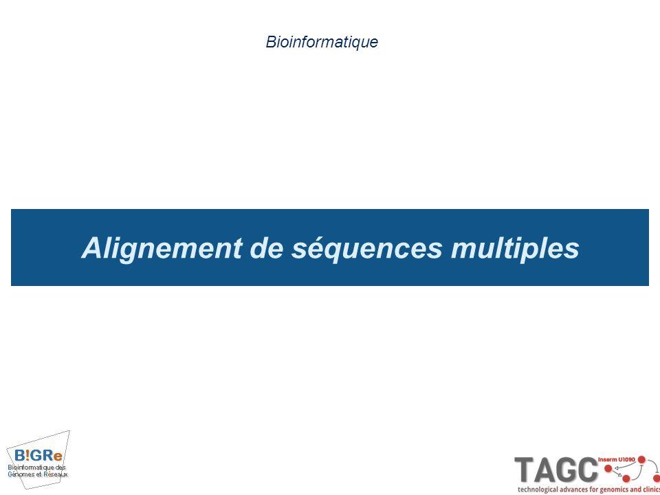 Alignement de séquences multiples Bioinformatique