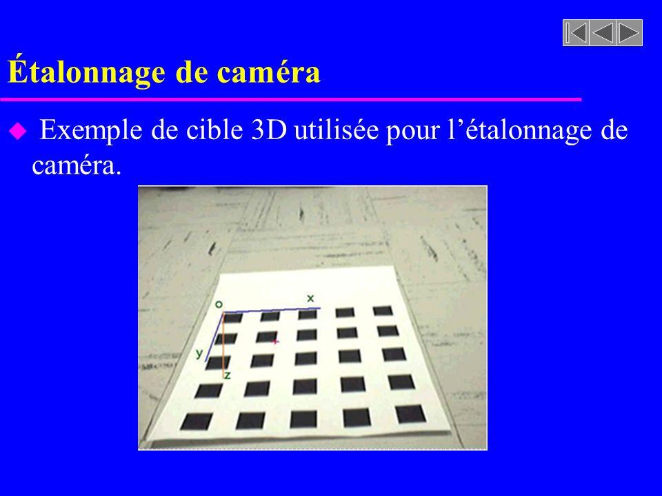 Étalonnage de caméra u Exemple de cible 3D utilisée pour létalonnage de caméra.