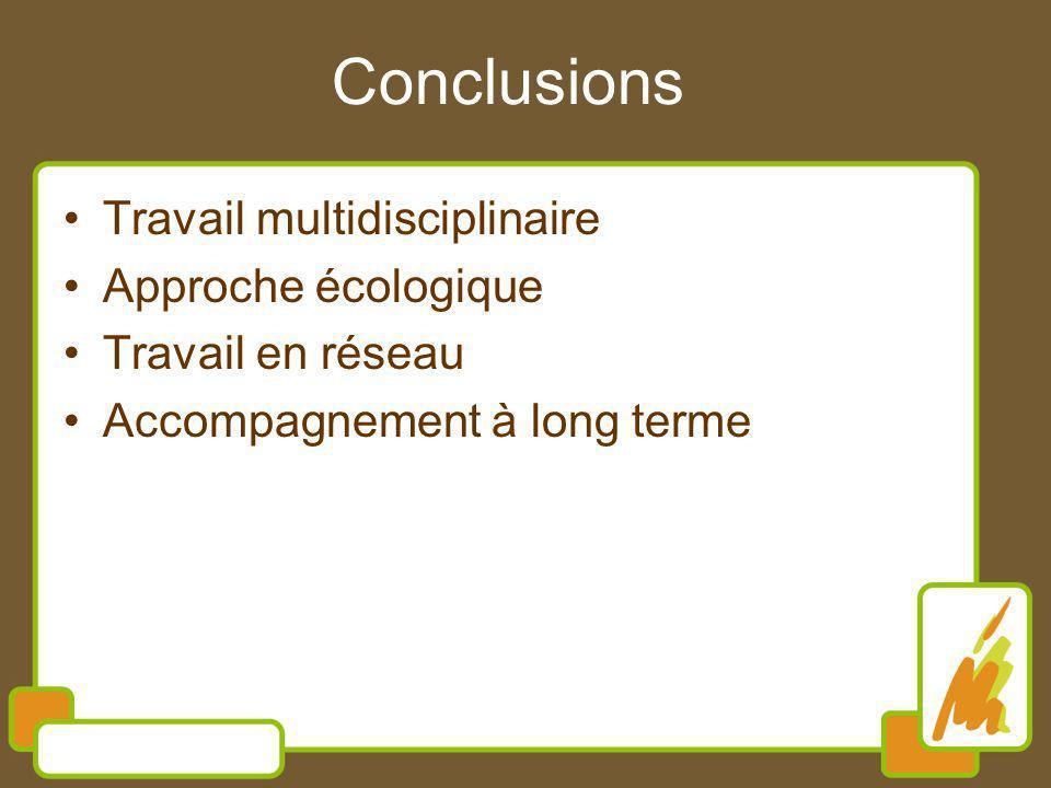 Travail multidisciplinaire Approche écologique Travail en réseau Accompagnement à long terme