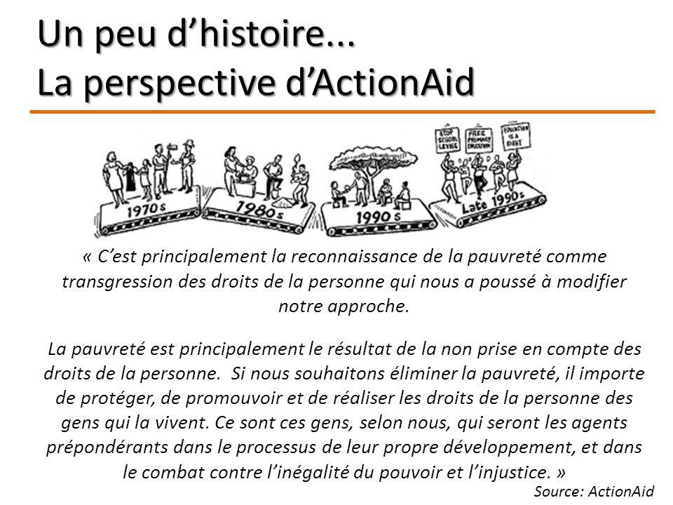 « Cest principalement la reconnaissance de la pauvreté comme transgression des droits de la personne qui nous a poussé à modifier notre approche. La p