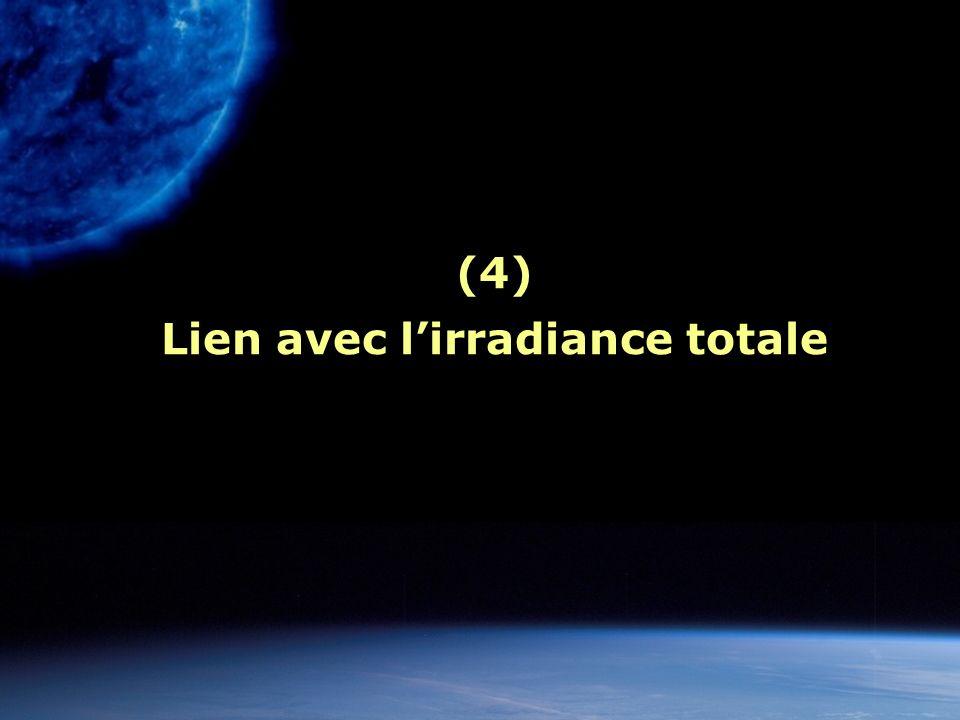 (4) Lien avec lirradiance totale