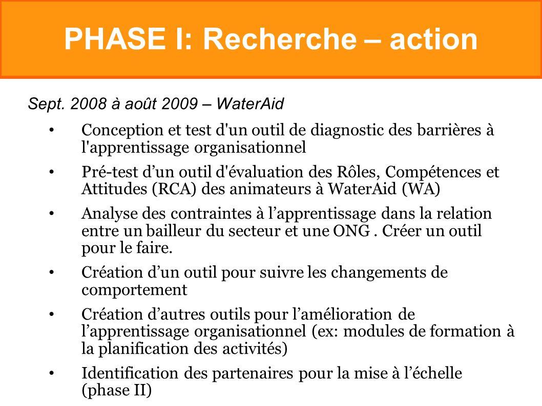 PHASE I: Recherche – action Sept.