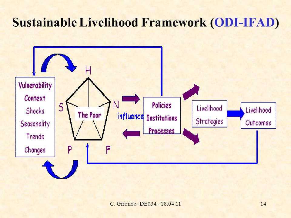 C. Gironde - DE034 - 18.04.1114 Sustainable Livelihood Framework (ODI-IFAD)