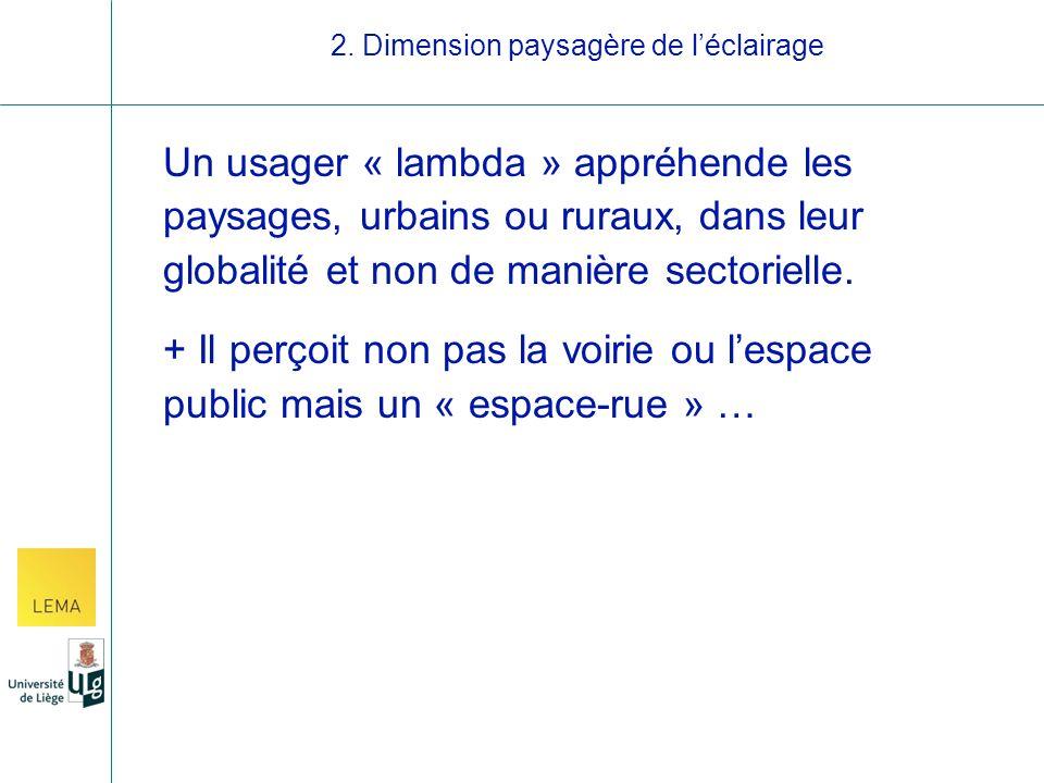 Un usager « lambda » appréhende les paysages, urbains ou ruraux, dans leur globalité et non de manière sectorielle.